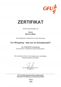 Car Wrapping - was tun im Schadensfall?